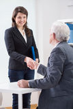 The end of successful job interview Stock Photography