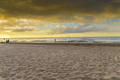 End of the summer, beach. Beach by the Baltic sea, end of the summer stock images
