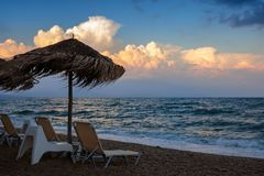 End of summer beach season royalty free stock images