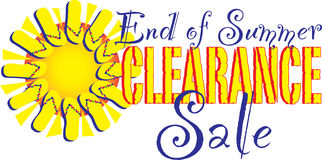 End of summer clearance sale Royalty Free Stock Photos