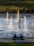 End of summer fountains Stock Image