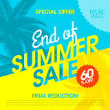 End Of Summer Sale banner. Design template Royalty Free Stock Photography