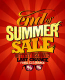 End of summer sale design. Royalty Free Stock Image