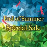 End of Summer Sale. End of summer jewelled design. Ai10 EPS vector illustration CMYK colors. Huge JPG included Royalty Free Stock Images