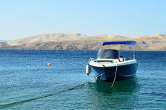 End of the summer season in Senj, Croatia. Krk Island on the horizon Stock Photos