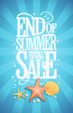 End of summer total sale design concept, vintage style Royalty Free Stock Images