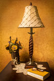 End Table with lamp Stock Photography