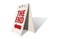 The End - Tent Sign Royalty Free Stock Photo