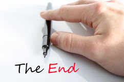 The end text concept. Isolated over white background Stock Images