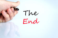The end text concept. Isolated over white background Royalty Free Stock Image