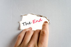 The end text concept. Isolated over white background Royalty Free Stock Photos