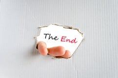 The end text concept Stock Photos