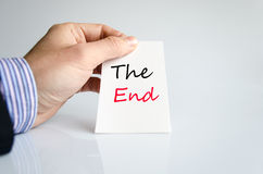 The end text concept Stock Photo