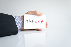 The end text concept Stock Images