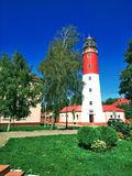 Prussian town Lighthouse Pillau Historical Landmark stock images