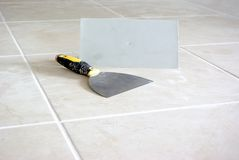 End of tiling Royalty Free Stock Photo
