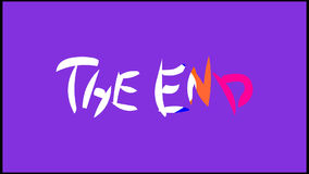 'The End' Title for kids stock video