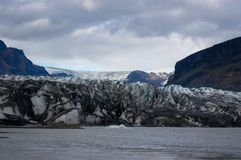 The End of the tongue of a glacier stock images