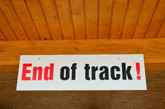 End of track sign Royalty Free Stock Image