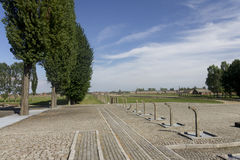 End of tracks area in Auschwitz II-Birkenau Royalty Free Stock Photography