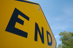 End Traffic Sign Stock Images