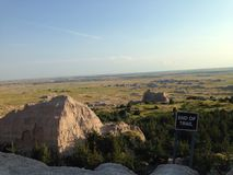 End of Trail in The Badlands Royalty Free Stock Photography