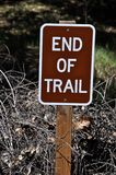 End of Trail Sign Stock Photography