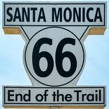 End of the Trail sign at Santa Monica Pier, California vector illustration