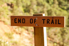 END OF TRAIL Royalty Free Stock Images