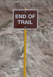 End of Trail Sign Stock Image