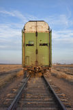 End of train on a sidetrack Royalty Free Stock Photography