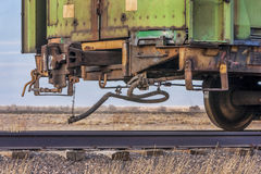 End of train on a sidetrack Royalty Free Stock Photo