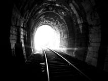 End of the tunnel Stock Photography