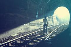 End of Tunnel Stock Photography