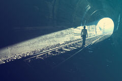 End of Tunnel Stock Images