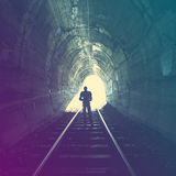 End of Tunnel Royalty Free Stock Images