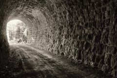 End of the tunnel Stock Images