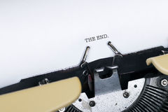 THE END. Typed by typewriter Royalty Free Stock Images