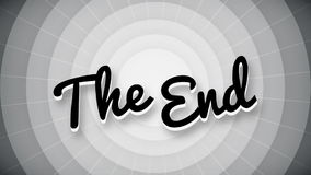 The end typography old movie animation title screen stock video