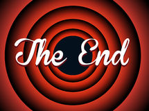 The end typography Royalty Free Stock Photography