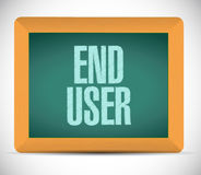 End user board sign illustration design Royalty Free Stock Photos