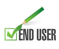 End user checkmark approval. Royalty Free Stock Photography