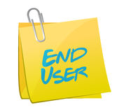 end user memo post illustration design Stock Photography