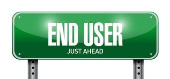 End user road sign illustration design Stock Images