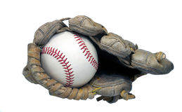 End View of Baseball in Glove Royalty Free Stock Photography