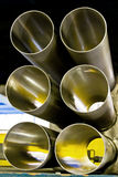 End View Metal Pipes Stock Photography