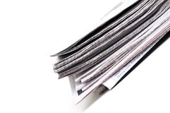 End view of a newspaper Royalty Free Stock Images