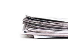 End view of a newspaper Stock Image