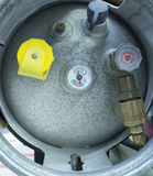 End view of a propane tank Stock Images