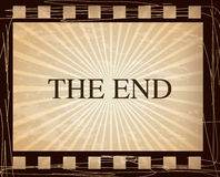 The end vintage. The end over  vintage background vector illustration Stock Photography